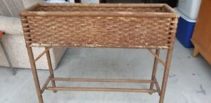 Wicker/Wood Plant Stand