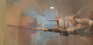 RAF Bomber airplane painted by A.F. Clark. Perfect shape.