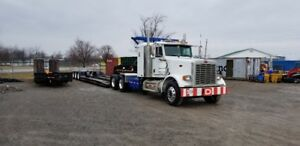 2006 Peterbilt and 2002 Paron Lowboy 50 Ton  Air operated Float