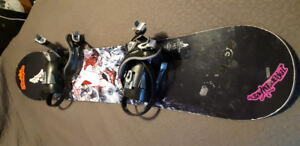 Burton Snowboard with bindings white collection size 143cm
