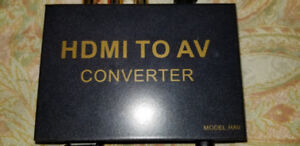 HDMI to AV Converter Box - Use laptop on your older television