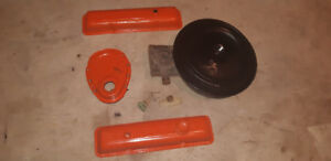 1974 Corvette Stingray Valve Covers. Timing Chain Cover. And air