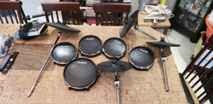 Alesis Dm10 Electric Drum Set with Throne and Double Kick Pedal