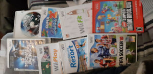 Nintendo Wii games for sale.