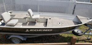 Chaloupe Legend 14 Prosport 5000$ & moteur mercury 2 temps 1500$