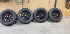 18 inch black mags+4 winter tires 235-65-18
