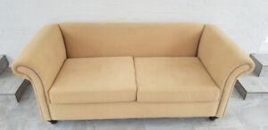 "Caramel Colored Sofa - 79"" L x 36"" D"