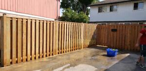 Fence ,deck, stonework
