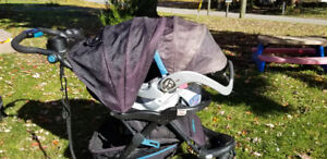 Baby Trend jogging stroller and carseat