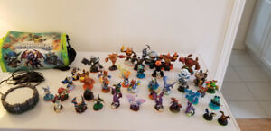 Skylander Figures 40+ with Carrying Bag and Portal