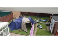 Lichfield 6 man tent with two separate bedrooms