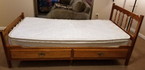 Twin/Captain's Bed with Mattress