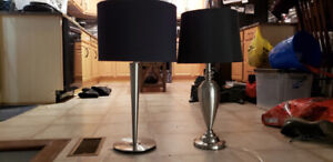 Lamps with black shade