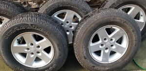 5 New Jeep tires and rims for sale, fit model years  2007 - 2018