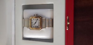 CARTIER SANTOS VINTAGE AUTOMATIC WATCH GREAT CONDITION 18K GOLD