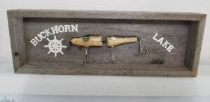 Framed fishing lure ..Buckhorn Lake