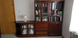 Bombay bookcase and entertainment cabinet