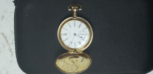 Waltham 14k yellow gold small pocket watch,from year 1909.