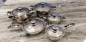 SELLING ::: Millerhaus 11-Piece Stainless Steel Cookware 7-Ply
