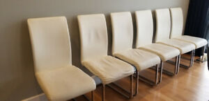 6 chaises contemporaines modernes, 6 contemporary modern chairs