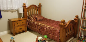 Real wood Bedroom set with mattress