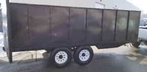20 Foot Double A Highboy Trailer / 2 X 7000 axle Custom