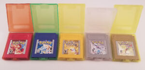 Pokemon Gameboy Color Gold Silver Red Blue Yellow