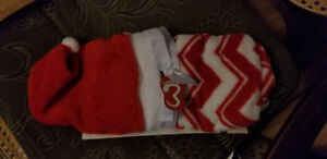 Baby Santa Hat & Matching blanket- NEW