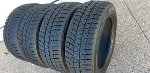 205/55R/16 BRIDGESTONE BLIZZAK WS80 WINTERS -VERY GOOD CONDITION