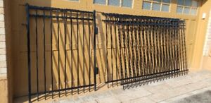 Black Metal Fence Panels and Gate