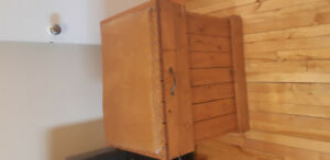 Wooden Blanket Box/Chest with Padded Seat for Sale!