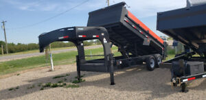 NEW 16' Precision Gooseneck Dump Trailer
