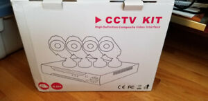 Hiseeu CCTV camera System 4CH 1080P AHD security Camera DVR