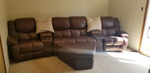 7 piece reclining leather sofa for sale