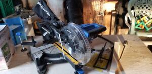 "Mastercraft 10"" compound miter sliding saw with laser"