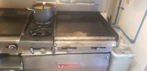 Garland oven flat grill and stove