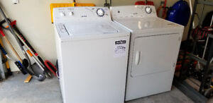 Newer used washer and dryer