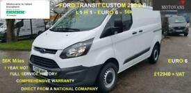2018 Ford Transit Custom 2.0 290 L1 H1, 1 OWNER, FSH , 56K, EU 6- 1 OWNER, FSH,