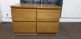 2 x ikea malm drawers