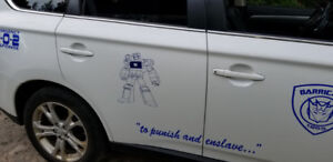 vehicle banners decals
