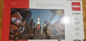 "49"" RCA 4K Ultra HD television"