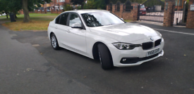 65 plate BMW 320d ED 4 door in white, 65000 miles