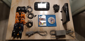 WII U with 6 Controllers & Super Smash Bros