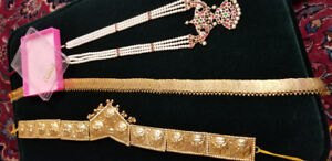 Indian dance temple jewelry