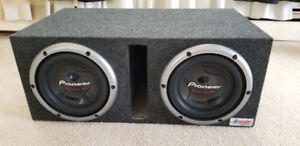 Pioneer Championship Series Pro 3000 Watt Subwoofers In Box