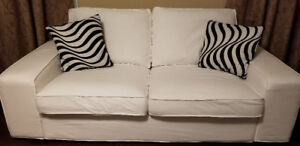 IKEA Kivik white Couch Loveseat and Chaise or Sectional