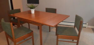MCM Teak Dining Table and Chairs