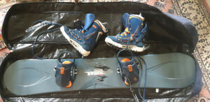Ride Nation 161 Snowboard with Burton boots and step-in bindings