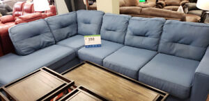 Ashley blue sectional $350 +tax