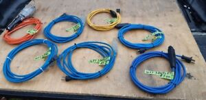 16 FOOT BLUE OUTDOOR EXTENSION CORDS 3 OUTLET-LIGGHTED ENDS